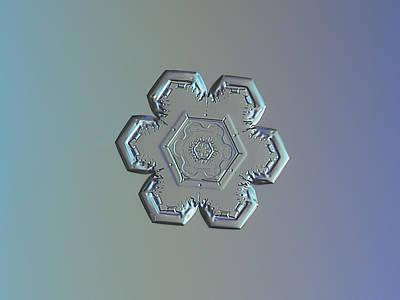 Snowflake Photo - Flower Within A Flower Print by Alexey Kljatov