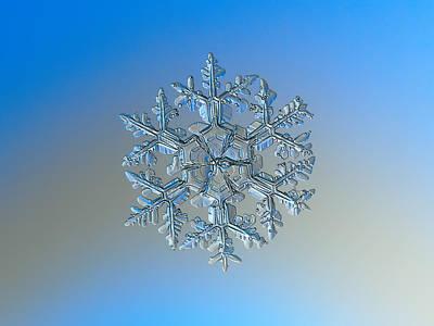 Symmetry Photograph - Snowflake Photo - Gardener's Dream by Alexey Kljatov