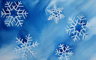 Snowflakes Original by Gretchen Bjornson