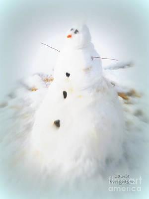 Snowman Print by Lainie Wrightson