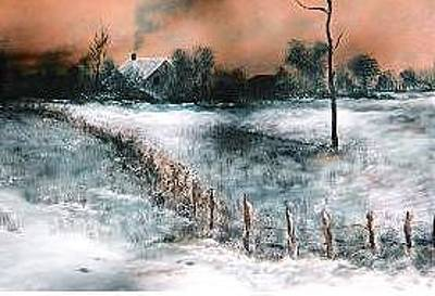 Hightower Painting - Snowscape by Steve  Hightower