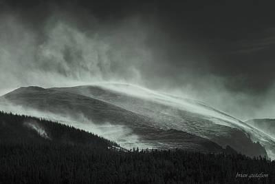 Snowswept Mountain Top Print by Brian Gustafson