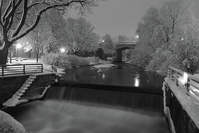 Snowy Night Photograph - Snowy Bear River by Russell Todd