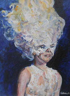 Lady Gaga Painting - So Proudly by Gerald Hubert