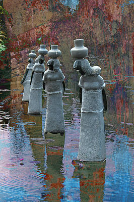 Soapstone Sculptures  Print by Bette Levine