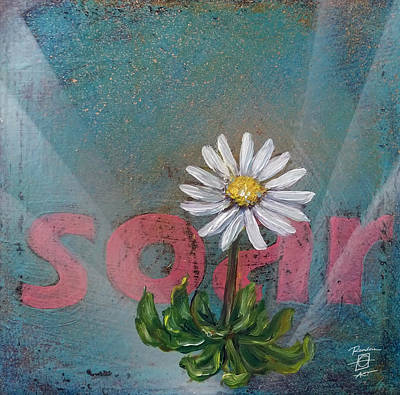 Painting - Soar Daisy by Andrea LaHue