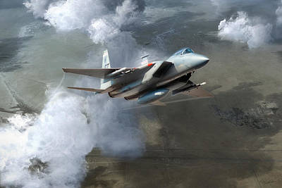 F-15 Digital Art - Soaring Eagle by Peter Chilelli