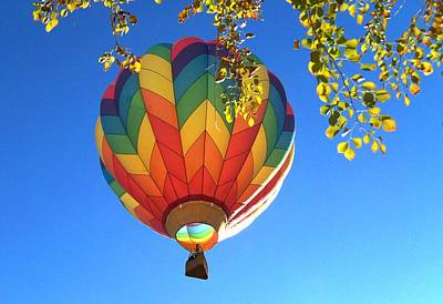 Hot Air Balloon Photograph - Soaring High by Adrienne Wilson