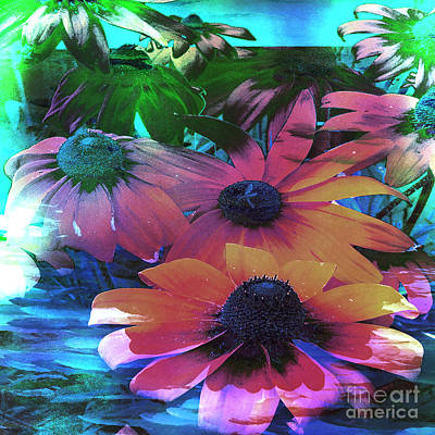 Abstracted Coneflowers Digital Art - Soaring Higher by Beverly Guilliams