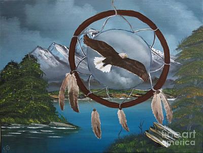 Spirit Catcher Painting - Soaring Spirit by Joy Borsavage