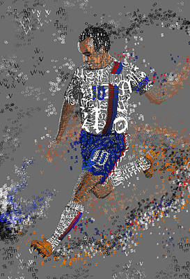 Landon Donovan Mixed Media - Soccer by Danielle Kasony