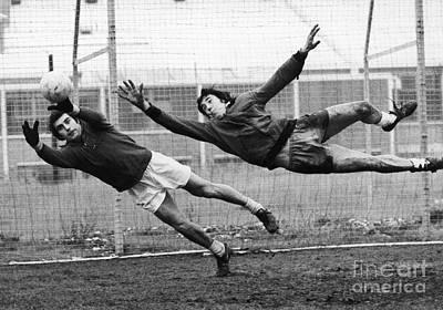 Photograph - Soccer Goalies, 1974 by Granger