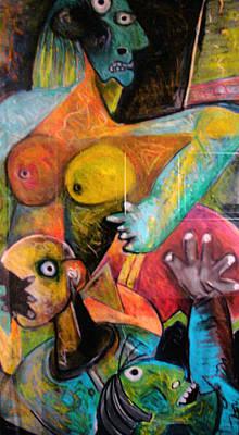 Weusi Art Mixed Media - Social Issues by Robert Daniels