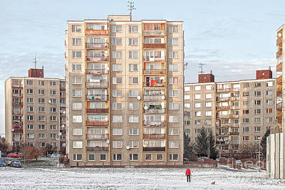 Socialistic Architecture Print by Christian Hallweger