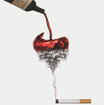 Wine Bottle Paining Drawing - Society by Samoyka Codrington