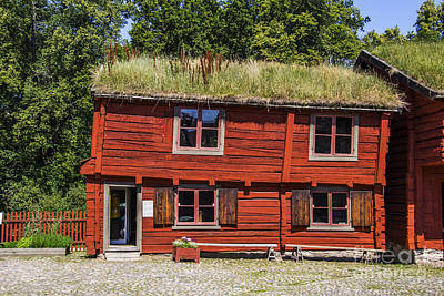 Orebro Photograph - Sod Roof House by Roberta Bragan