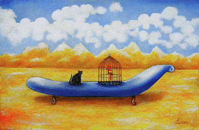Surreal Painting - Sofa by Rudolf  Zamazal