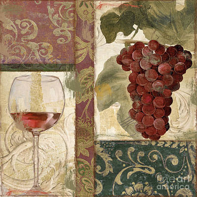 Wineglass Painting - Sofia I by Mindy Sommers