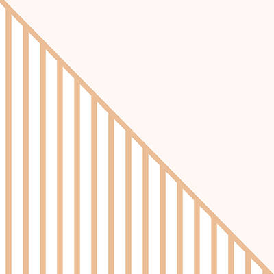 Soft Blush And Coral Stripe Triangles Print by Linda Woods