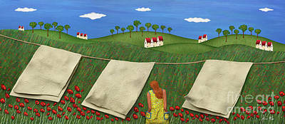 The Houses Mixed Media - Soft Breeze by Anne Klar