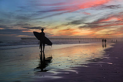 Brilliant Colors Photograph - Surfing The Shadows Of Light by Betsy Knapp