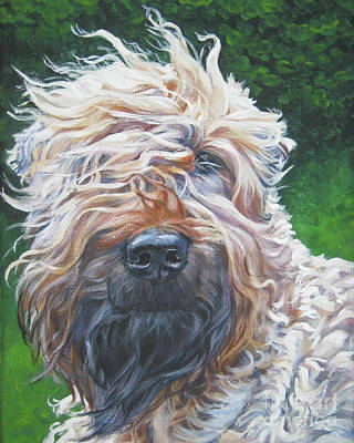 Puppies Painting - Soft Coated Wheaten Terrier by Lee Ann Shepard