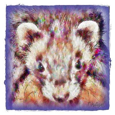 White Ferret Digital Art - Soft Ferret by Terry Mulligan