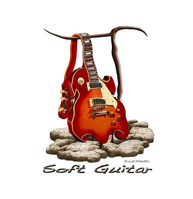 Shirt Digital Art - Soft Guitar - 3 by Mike McGlothlen