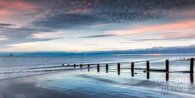 North Wales Digital Art - Soft Light Sundown by Adrian Evans