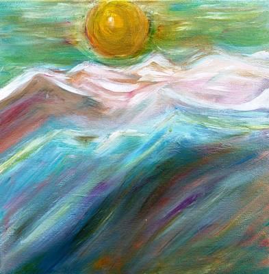 Soft Moon Night Print by Amy Drago