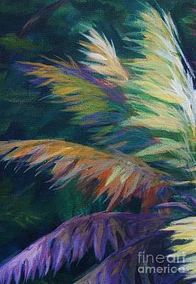 Palm Fronds Painting - Soft Palm by John Clark