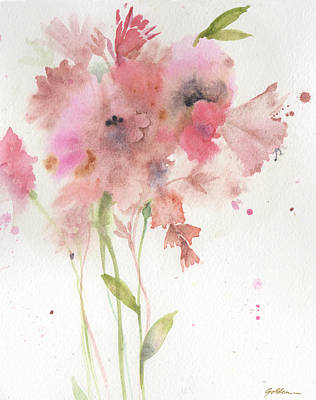 Soft Pink Bouquet Print by Sheila Golden