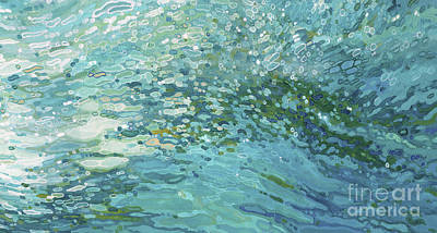 Juul Painting - Soft Seascape I by Margaret Juul