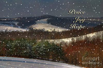 Soft Sifting Christmas Card Print by Lois Bryan