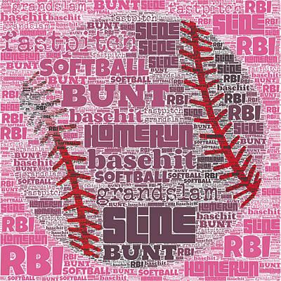 Softball  Print by Brandi Fitzgerald