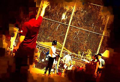 Softball Game Original by Dale Stillman