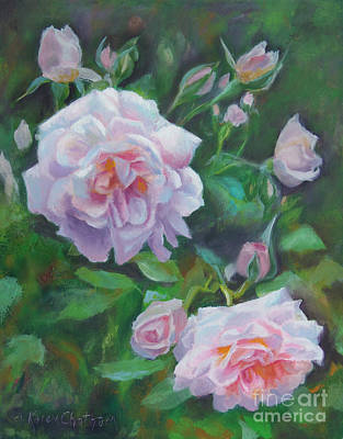 Softly Pink Roses Original by Karen Kennedy Chatham