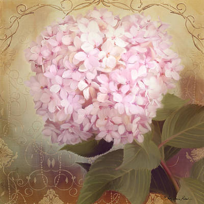 Country Cottage Mixed Media - Softly Summer - Hydrangea by Audrey Jeanne Roberts