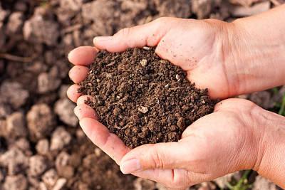 Soil In Hands Print by Boyan Dimitrov