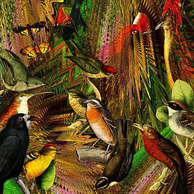 Solar Birds Of Paris Original by Joseph Mosley