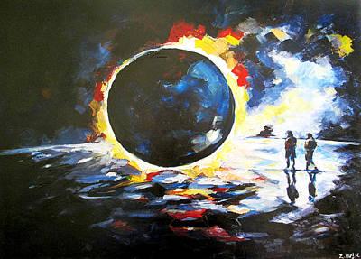 Solar Eclipse Print by Zlatko Music