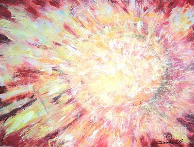 Original Painting - Solar Eruption by Mary Sedici