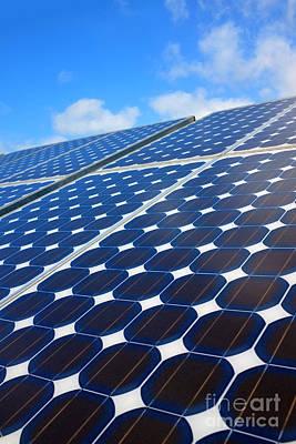 Economy Photograph - Solar Pannel by Carlos Caetano