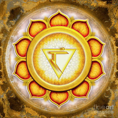 Manipura Digital Art - Solar Plexus Chakra - Series 5 by Dirk Czarnota