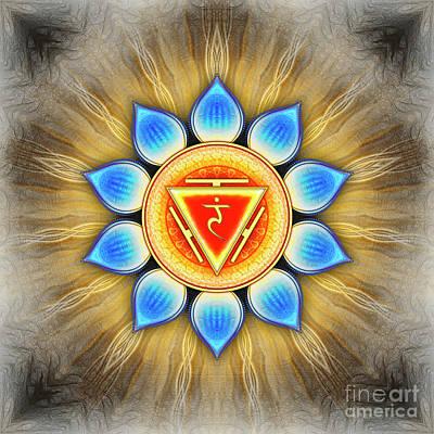 Manipura Digital Art - Solar Plexus Chakra - Series 4 by Dirk Czarnota