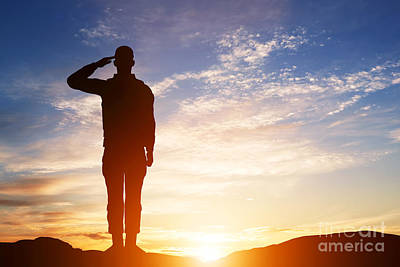 Usa Photograph - Soldier Salute by Michal Bednarek
