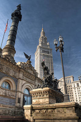 Soldiers' And Sailors' Monument Print by At Lands End Photography