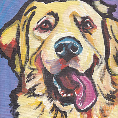 Golden Retriever Pop Art Painting - Solid Gold by Lea S