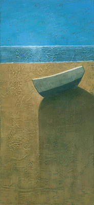 Calm Painting - Solitary Boat by Steve Mitchell