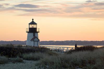 Solitude At Brant Point Light Nantucket Original by Henry Krauzyk